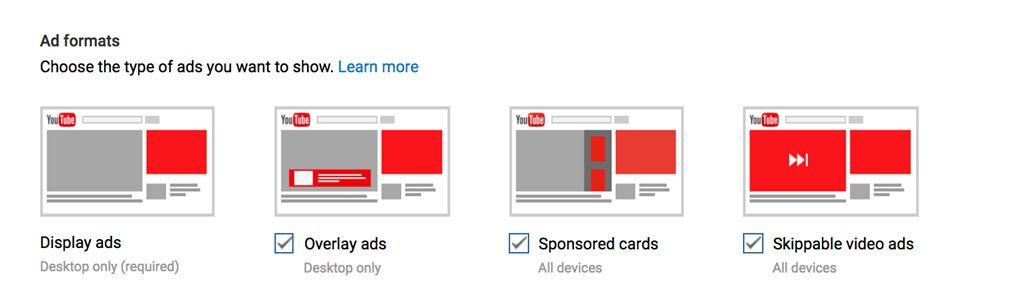 Виды рекламы на ютуб